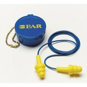 AOSafety Multi Use E-A-R UltraFit Triple Flange Foam Corded Earplugs