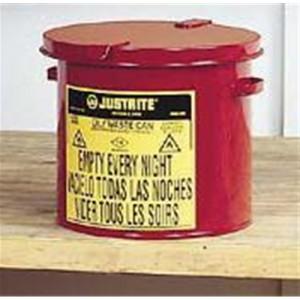 Justrite  Oily Waste Countertop Can