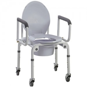 Drive Wheeled Drop Arm Commode