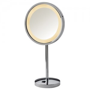 Jerdon 5X LED Halo Lighted Vanity Mirror