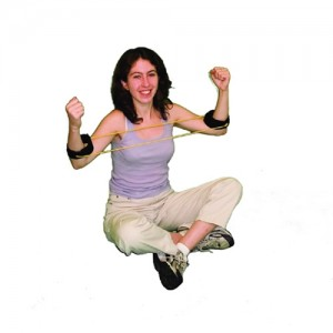 Cando Fitness Resistance Band Tubing with Ankle Cuffs