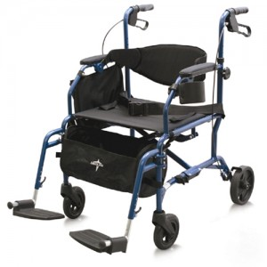 Medline Excel Translator Rollator Transport Chair