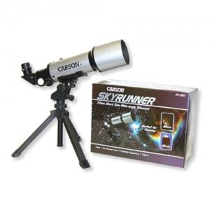 Carson SkyRunner Short Tube Wide Angle Refractor Telescope