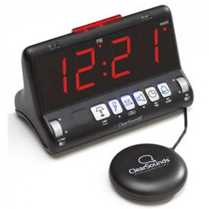 ClearSounds ShakeUp to WakeUp Alarm Clock with Bed Shaker