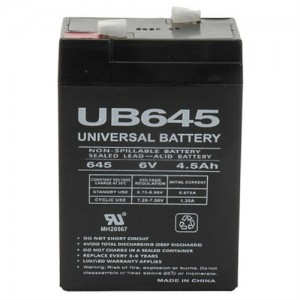 UB645 SLA Battery 6V/4.5Ah