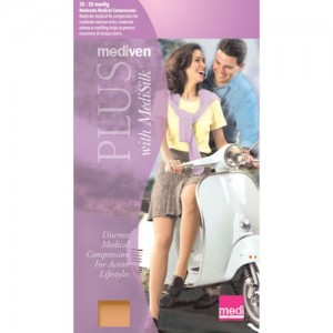 Mediven Plus 20-30 mmHg Petite Panty Hose OT w/Adjustable Waistband