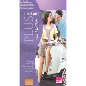 Mediven Plus 30-40mmHg PET Thigh High OT w/Waist Attachmen