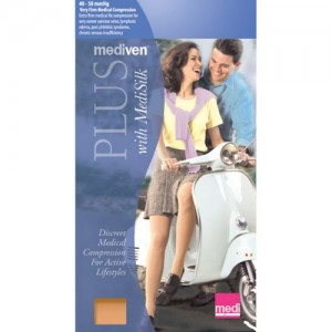 Mediven Plus 40-50 mmHg Thigh High OT w/ Waist Attachment