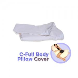 C Full Body Pillow Cover White
