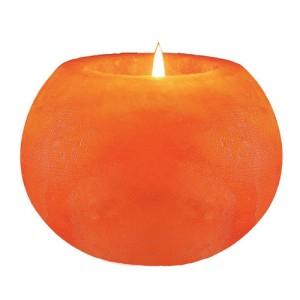 Himalayan Ball Salt 1 Tealight Candleholder Hand Carved