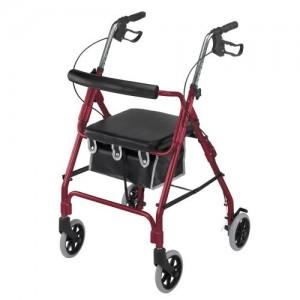 DMI Ultra Lightweight Aluminum Rollator with Curved Backrest