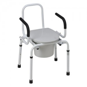 DMI Drop-Arm Steel Commode
