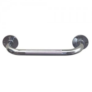 HEALTHSMART Steel Knurled Grab Bar