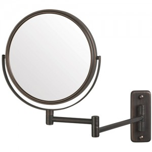 Jerdon 8-Inch Two-Sided (1x/5x) Swivel Wall Mount Mirror