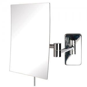 Jerdon Rectangular 6-1/2 x 8-3/4 inch Wall Mount Mirror