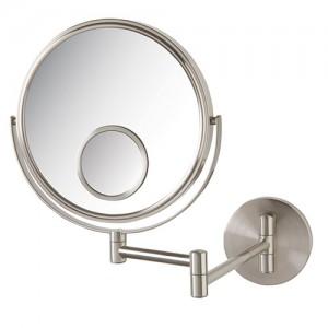 Jerdon 10X-8 in 2-Sided Wall Mount Mirror w/15X Spot Mirror