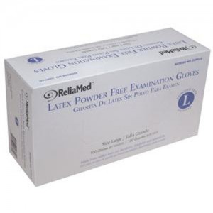 ReliaMed Non-Sterile Powder-Free Latex Examination Glove Medium