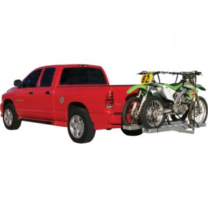 Double Hitch Mounted Aluminum Motocross Carrier