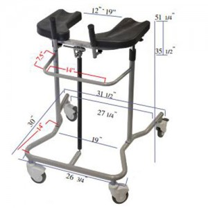 EVA Pneumatic Adult Institutional Stand Up Walker