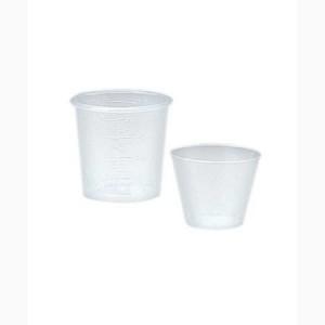 Premium Plastics 1 oz Plastic Calibrated Medicine Cups in Ounces and Mil