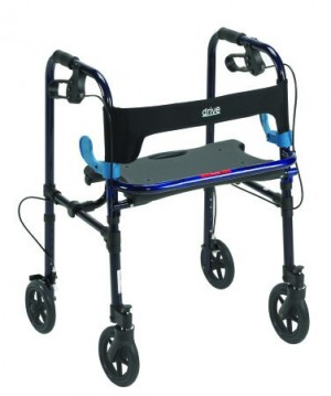 "Drive Medical Clever Lite Deluxe Rollator Walker with 8"" Casters by Drive"