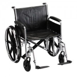 Nova Steel & Vinyl Wheelchair W/Detach Desk Arms & Footrests