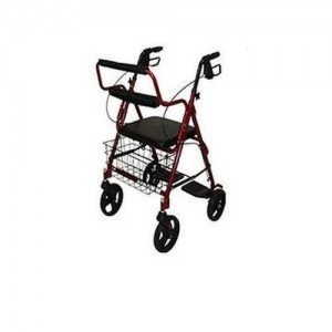 Probasics Transport Rollator with Padded Seat by Roscoe