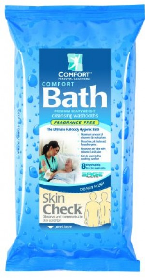 Comfort Bath Cleansing Washcloths - Unscented by Sage