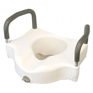 Medline Raised Toilet Seat with Arms