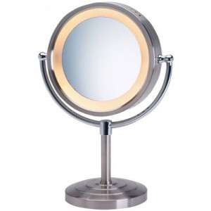 Jerdon 5X Lighted Vanity Magnifying Mirror