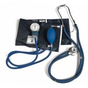 Professional Aneroid Sphygmomanometer and Stethoscope Kit - Black