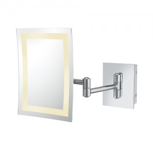 Kimball & Young 3X LED Rectangle Wall Magnifying Mirror