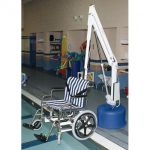Wheelchair Option with Chair for Revolution Pool Lift