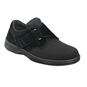 Orthofeet Bismark Mens Black Stretchable Orthopedic Shoes