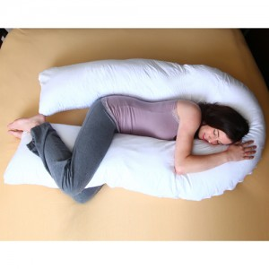 U Shape Body Pillow - White Case