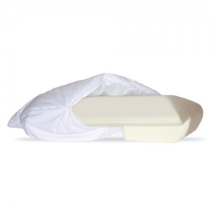 Fiberfill Cozy Cover for Sleep Better Pillow - White