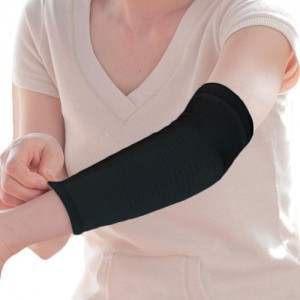 Aqua-Titanium Elbow Support Black