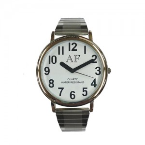 Unisex LV Silver Tone Watch w/White Face