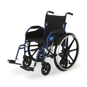Medline Hybrid 2 Wheelchair + Transport Chair with Removable Desk-Length Arms