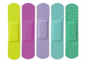 CURAD Neon Adhesive Bandages, Latex Free