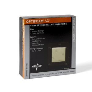 MedLine Optifoam AG+ Silver Antimicrobial Wound Dressings