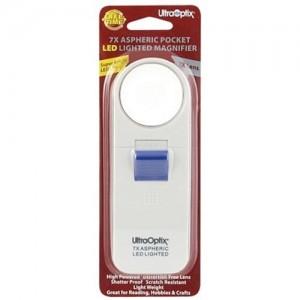 Pocket LED Lighted 7x Magnifier