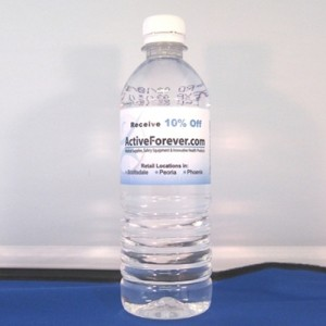 Custom Labeled Bottled Water - 1 Case of 24