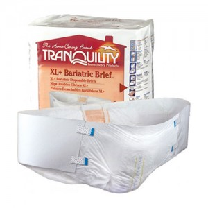 Tranquility Bariatric Disposable Briefs XL+