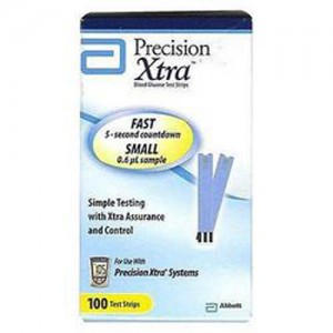 Precision Xtra Blood Glucose Test Strips