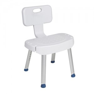 Bathroom Safety Shower Chair with Folding Back