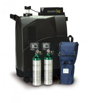 iFill Personal Oxygen Station, Carrying Case, 2 M6 PD1000 Cylinders
