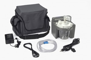 DeVilbiss 7305P-D-EXF VacuAide Suction Unit with Battery, External Filter and Carry Case