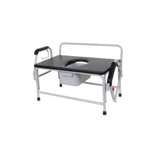 Drive Bariatric Extra Wide Drop Arm Bedside Commode Seat