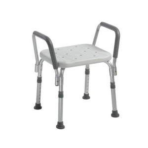 Drive Knock Down Bath Bench with Padded Arms